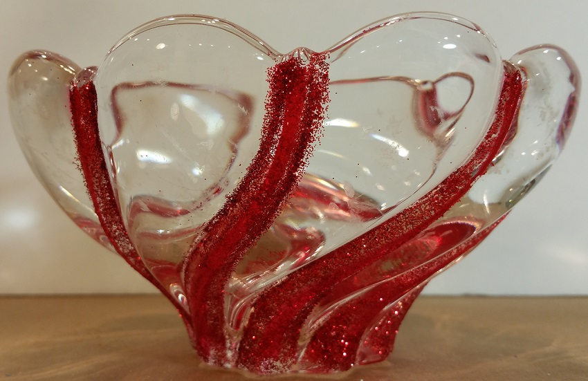 Glittered Christmas Candy Bowl
