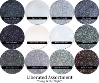 Liberated Glitter Assortment: Long Is The Night (12 colors)
