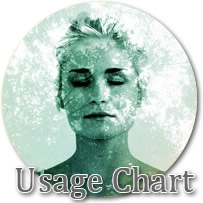 Usage Chart Cosmetic Holographic Glitters