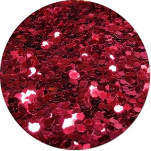 Red Apple Radiance Craft Glitter (colossal flake)- 4 oz. Jar