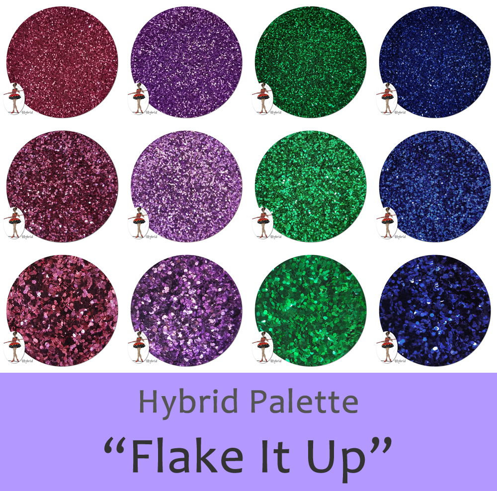 Flake It Up (12 colors) :Hybrid Glitter Assortment