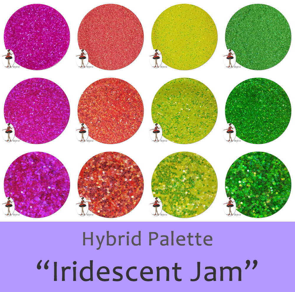 Iridescent Jam (12 colors):Hybrid Glitter Assortment