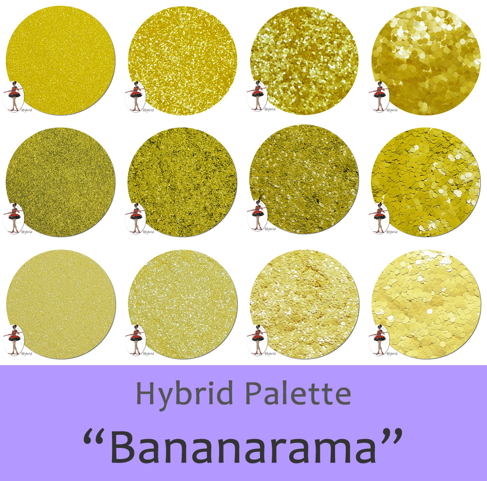 Bananarama! (12 colors) :Hybrid Glitter Assortment