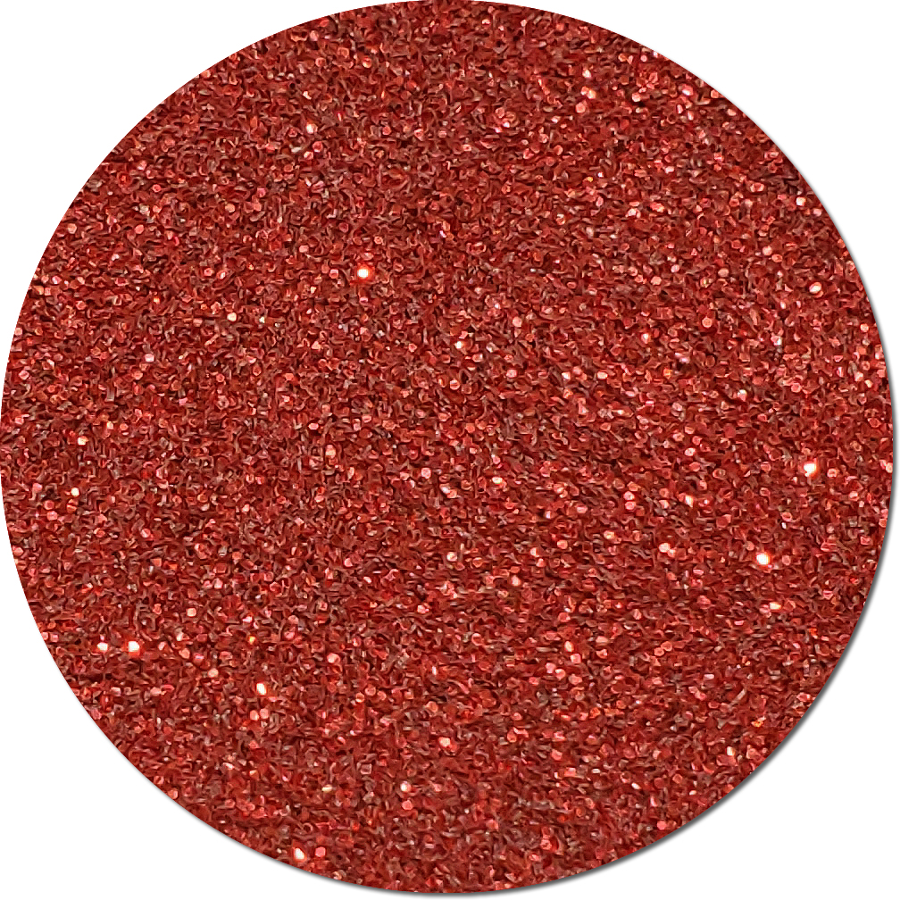 Red 57 Craft Glitter (fine flake)- 3/4 oz Jar