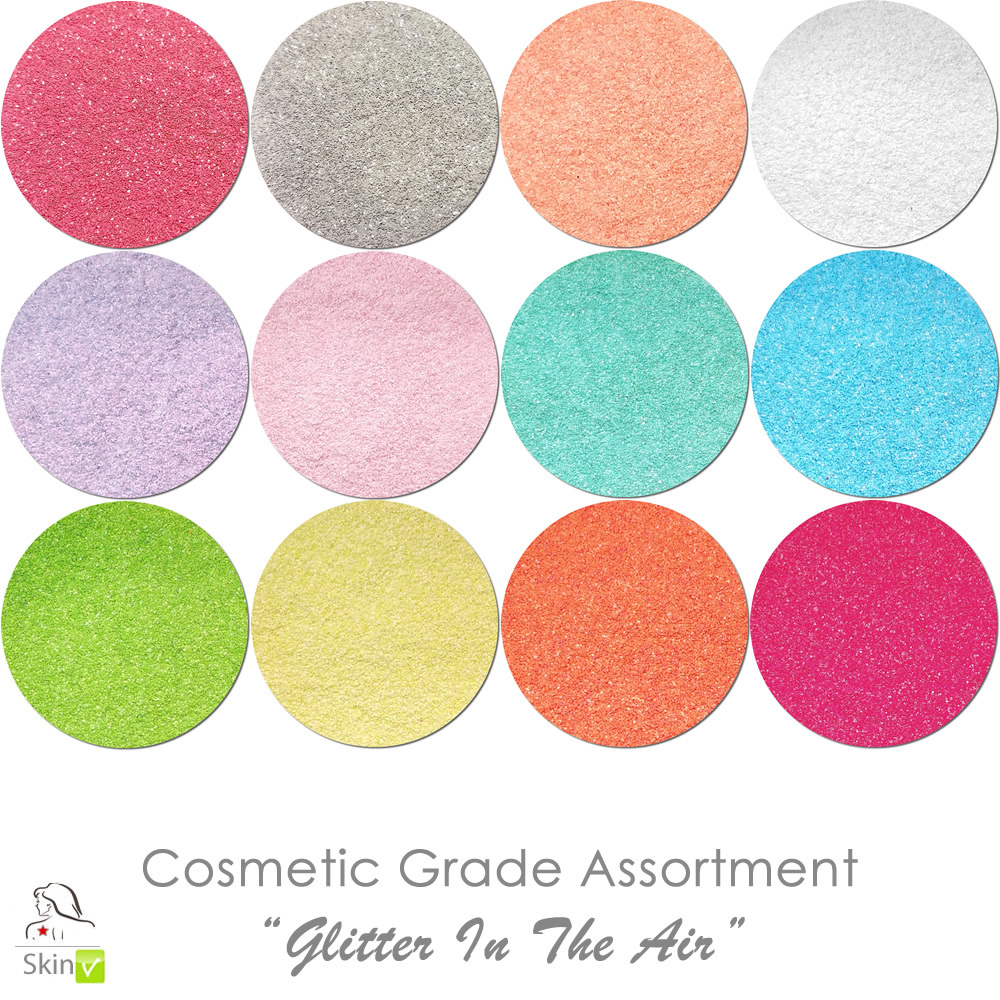 New Glitter In The Air (12 colors for skin) :COSMETIC Liberated Glitter Assortment