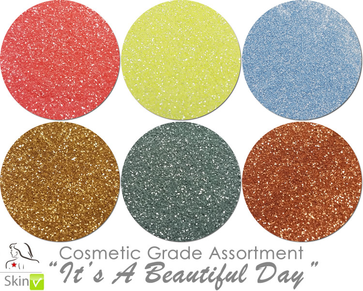 NEW It's A Beautiful Day (6 colors for skin) :COSMETIC Mia Familia Glitter Asst