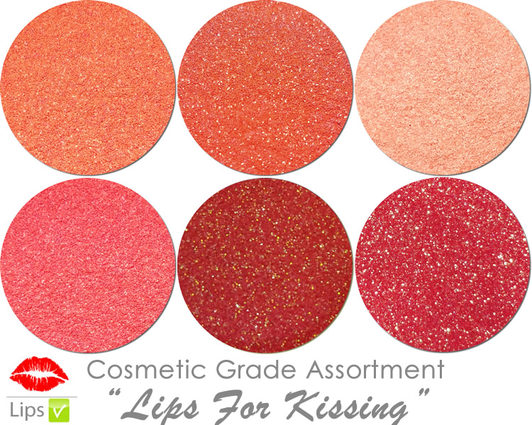 Lips For Kissing (6 colors for lips) :COSMETIC Mia Familia Glitter Asst