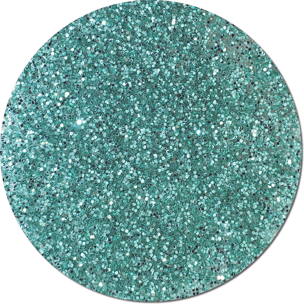 A Tiffany Blue Craft Glitter (chunky flake)- 3/4 oz Jar