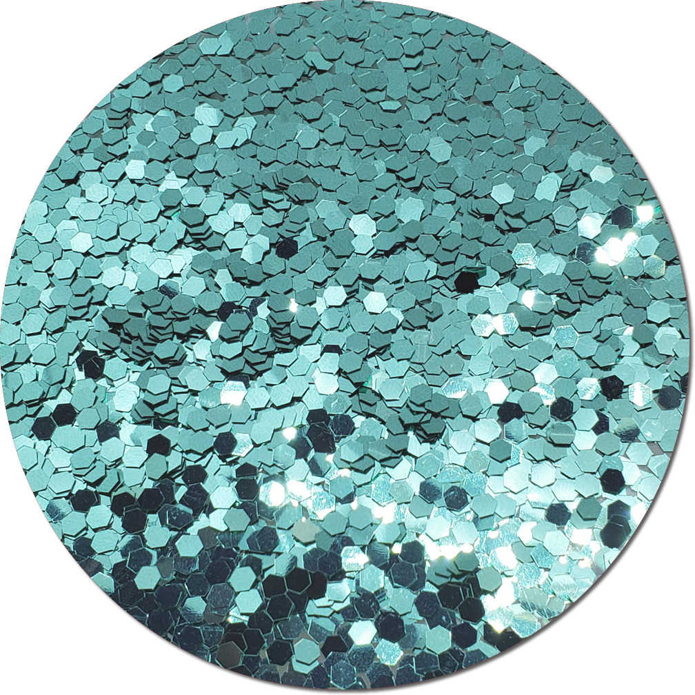 A Tiffany Blue Craft Glitter (colossal flake)- 3/4 oz Jar