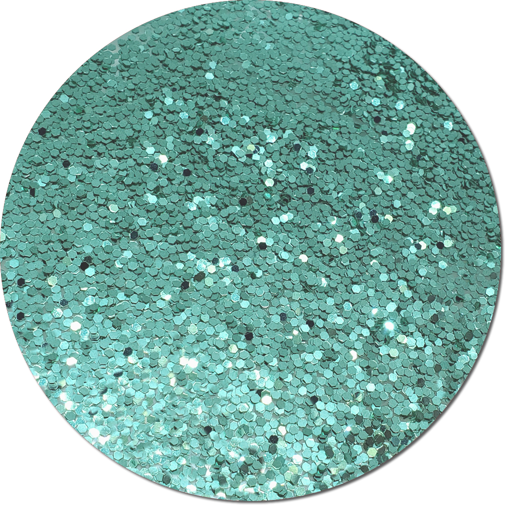 A Tiffany Blue Craft Glitter (fat flake)- 3/4 oz Jar