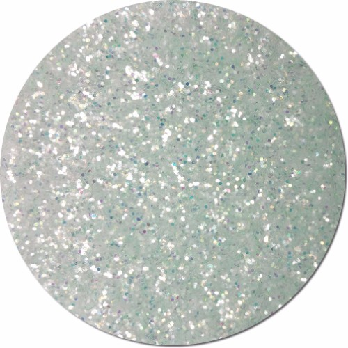 Alabaster Frost Iridescent Craft Glitter (chunky flake)- 8 oz. Jar