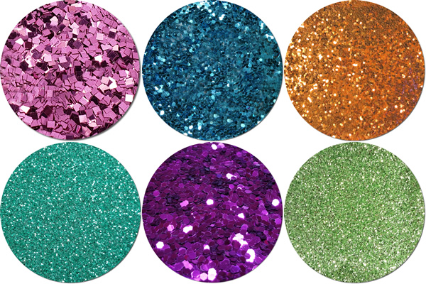Transitions Craft Glitter Assortment (6 colors/sizes)
