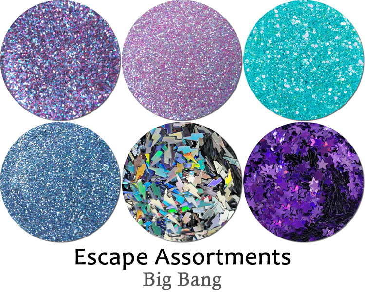 Big Bang (6 colors): Escape Glitter Assortment