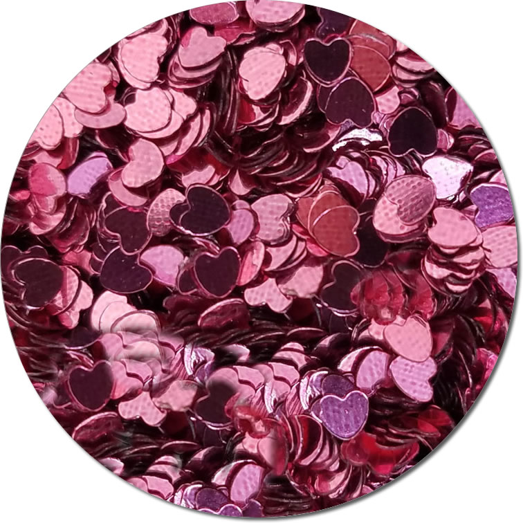 Bleeding Heart Pink :Polyester Shaped Glitter (bulk)