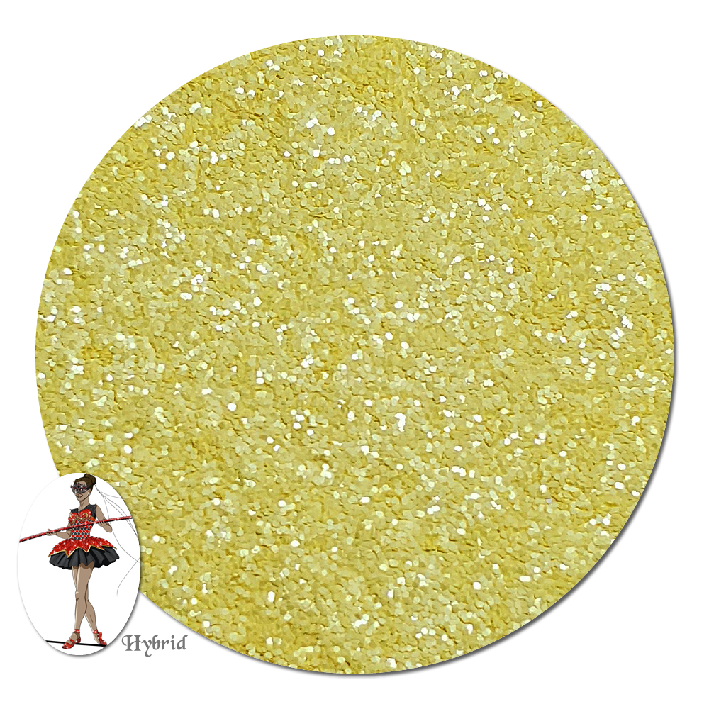 Buttercream Yellow Satin Hybrid Glitter (fine)- By The Pound