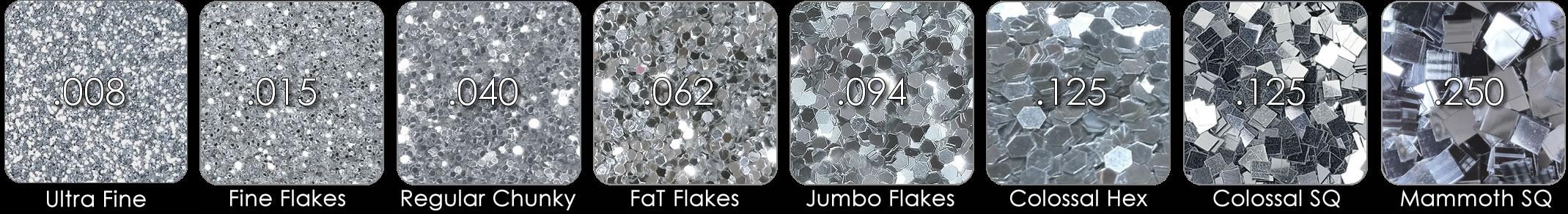 Glitter Flake Chart