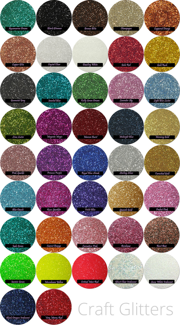 CUSTOM: Craft Glitter Mix (7 Colors)