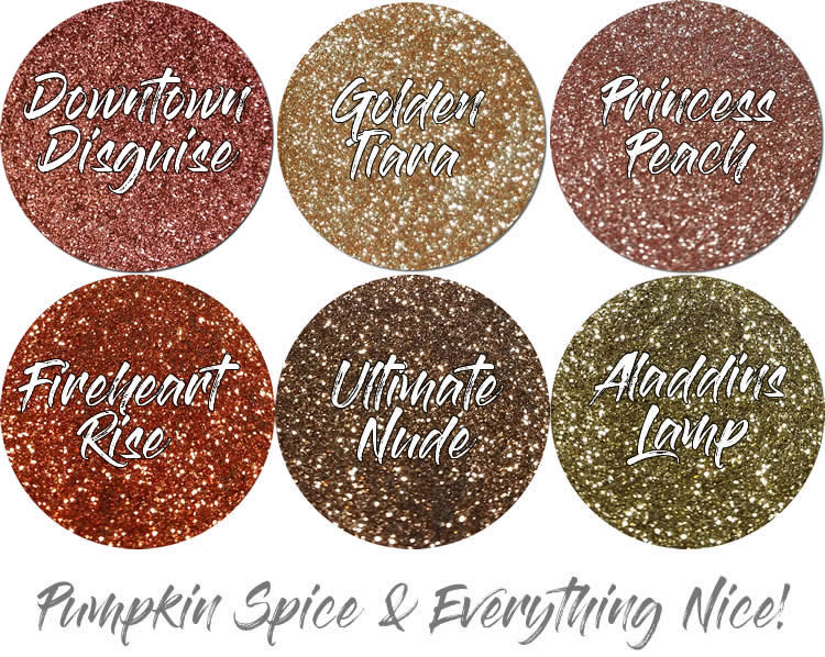 Pumpkin Spice (6 colors for skin): COSMETIC Mia Familia Glitter Assortment