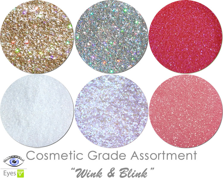 Wink & Blink (6 colors for eyes): COSMETIC Escape Glitter Asst