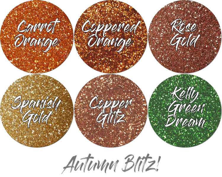 Autumn Blitz! Craft Glitter Assortment (6 colors- fat flakes)