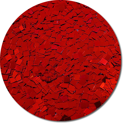 A Very Merry Red Craft Glitter (Colossal Squares)- 8 oz. Jar