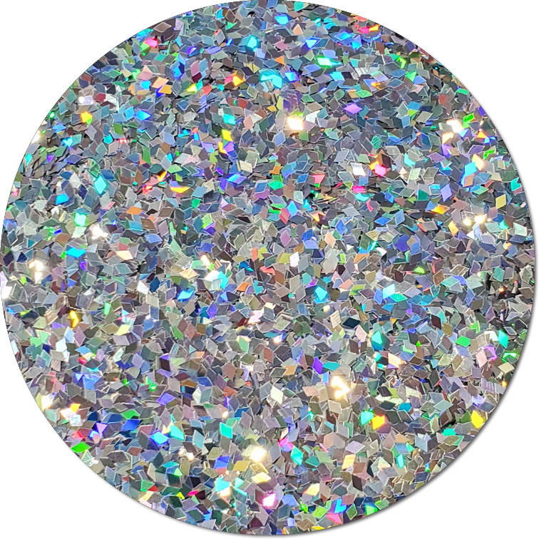Centauri Silver :Diamond Shape Holographic Glitter (Mini)