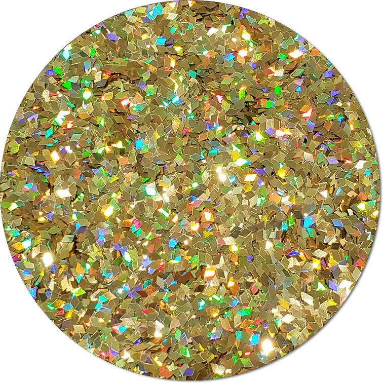 Midas Touch :Diamond Shape Holographic Glitter (jar)