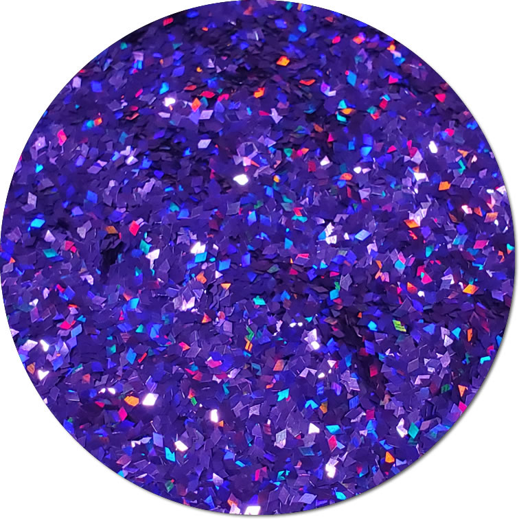 Purple Rain :Diamond Shape Holographic Glitter (jar)
