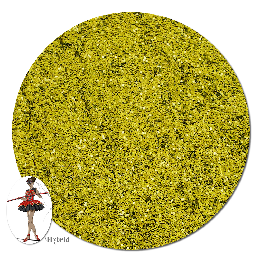 Dijon Yellow Satin Hybrid Glitter (fine)- 3/4 oz Jar