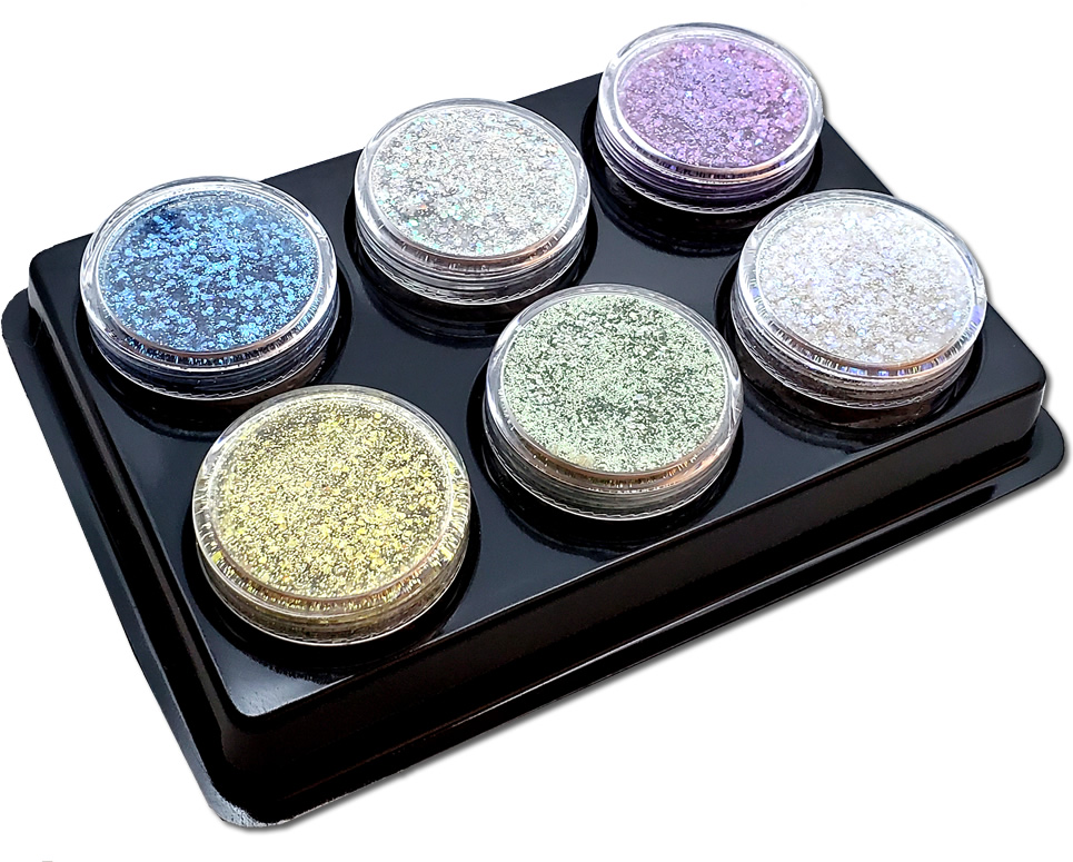 Earth's Promise (6 colors for skin) : Twisted Glitter Biodegradable Asst