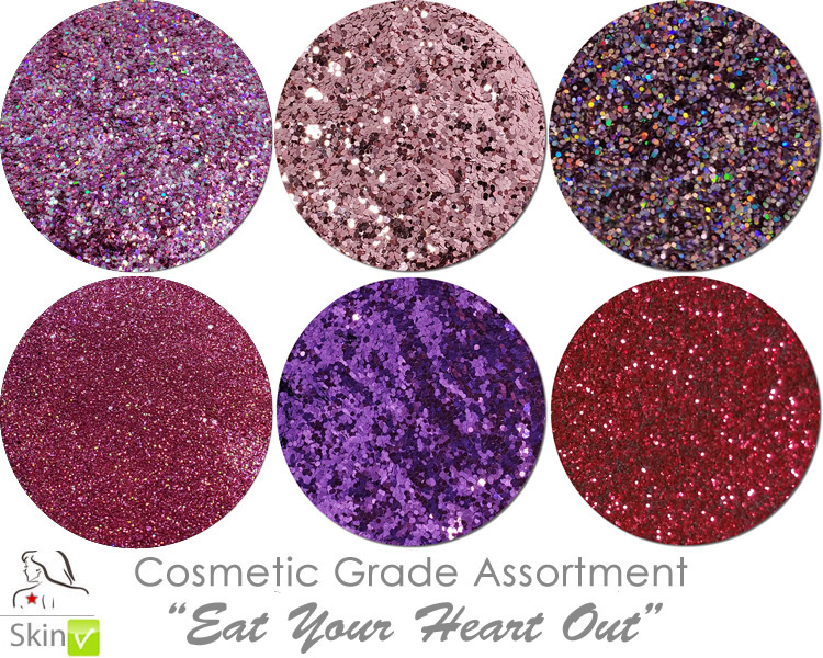 Eat Your Heart Out (6 colors for skin) :COSMETIC Mia Familia Glitter Asst