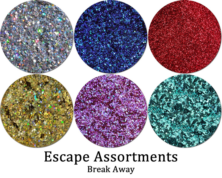 Break Away (6 colors): Escape Glitter Assortment