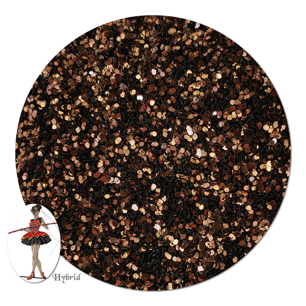 Harvest Brown Metallic Hybrid Glitter (fine)- 3/4 oz Jar