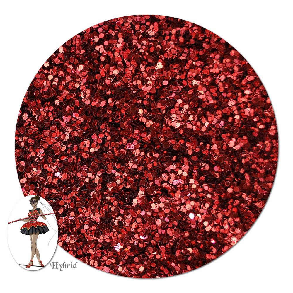 Red Devil Metallic Hybrid Glitter (fine)- 8 oz. Jar
