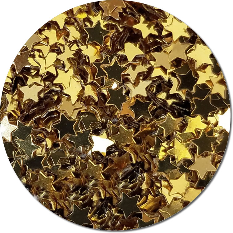 Fairy Stars Gold :Polyester Shaped Glitter (bulk)