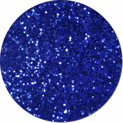 Crystalline Cobalt Craft Glitter (Fat flake)- 8 oz. Jar
