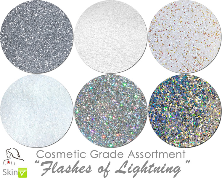 Flashes of Lightning (6 colors for skin): COSMETIC Escape Glitter Asst