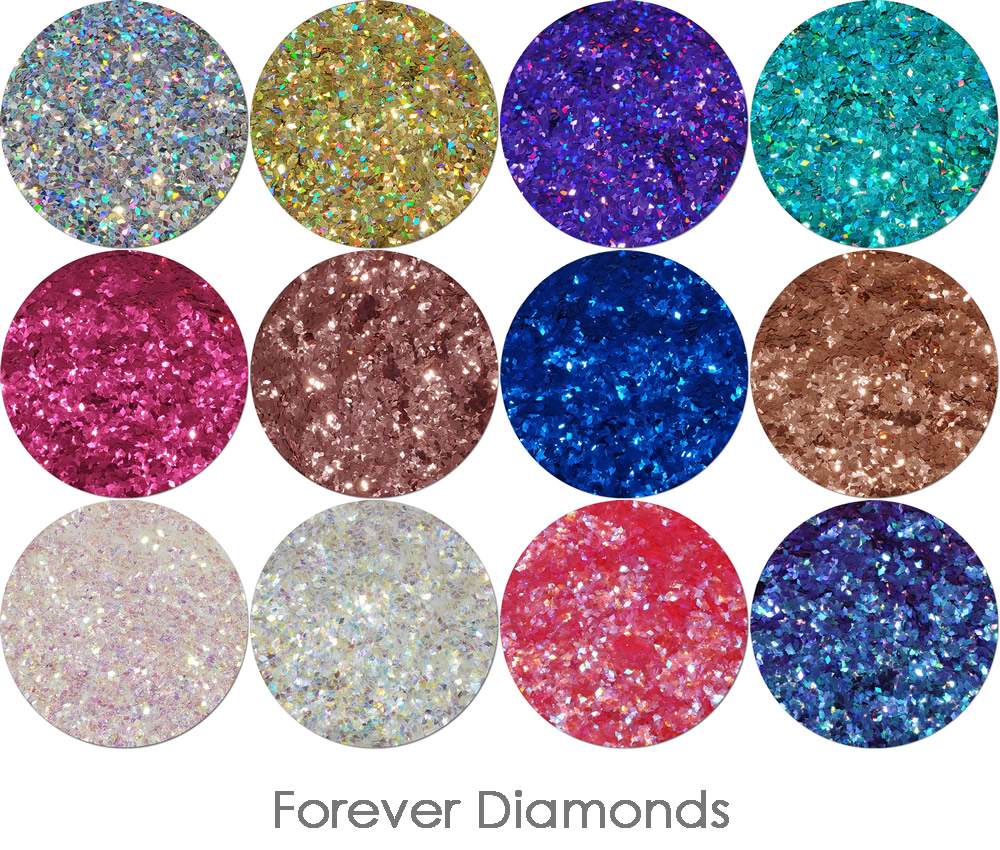 Forever Diamonds- (12 piece shaped glitter set)