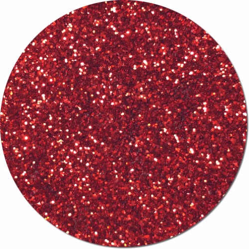 Gala Red Craft Glitter (chunky flake)- 8 oz. Jar