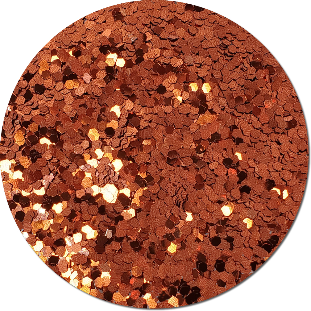 Gingerbread Craft Glitter (colossal flake)- 4oz. Jar