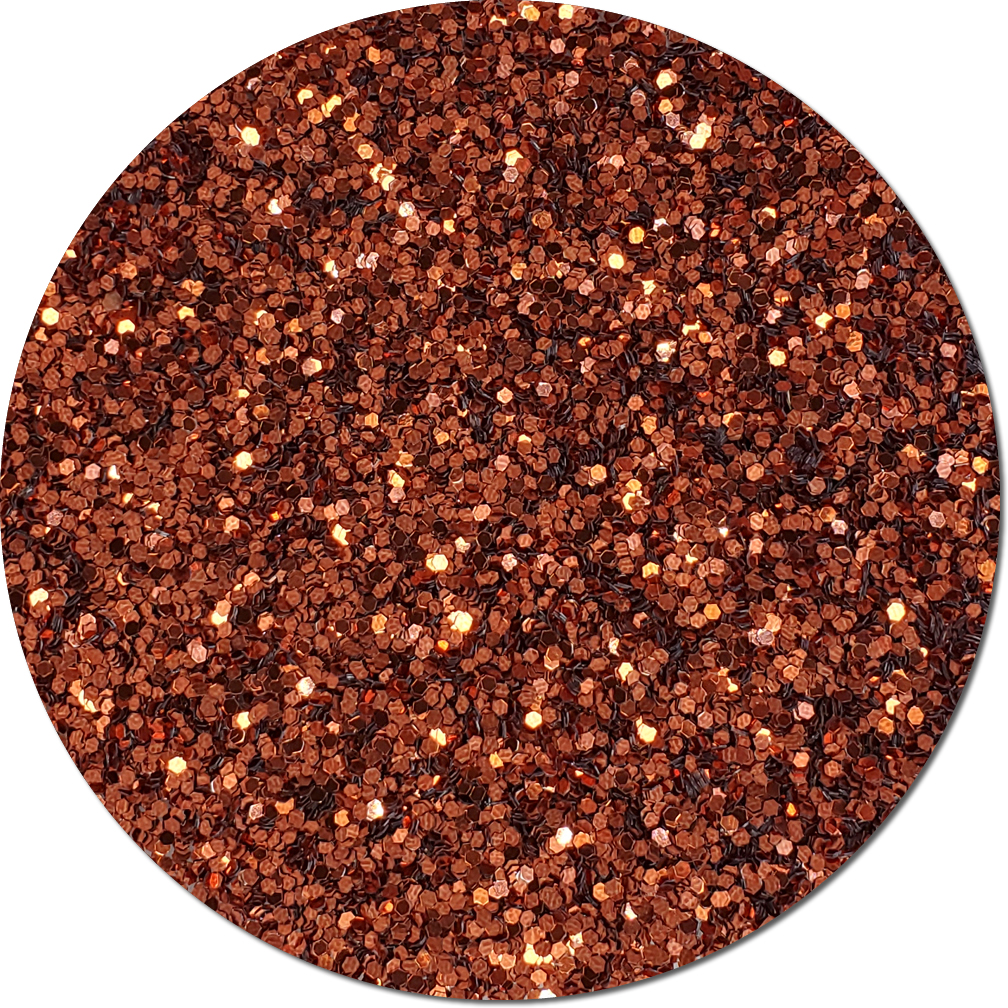 Gingerbread Craft Glitter (fat flake)- 3/4 oz Jar