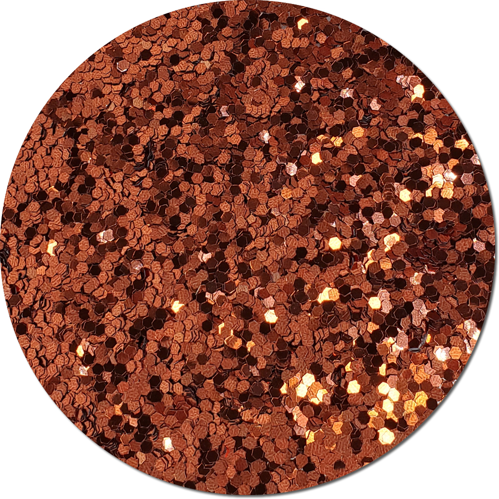 Gingerbread Craft Glitter (jumbo flake)- 4oz. Jar