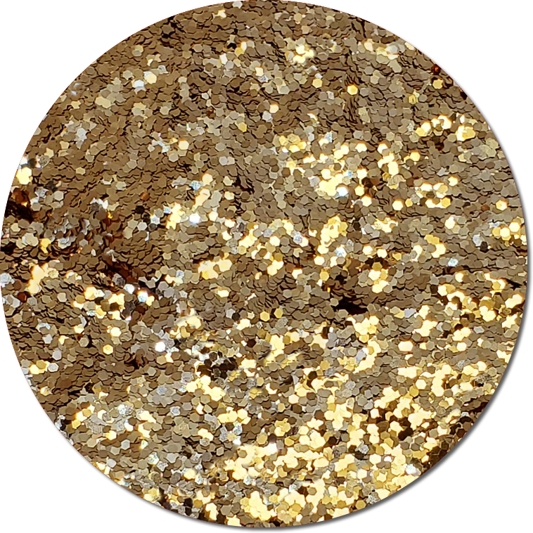 Golden Tiara :Chunky Glitter Cosmetic Metallic (jar)
