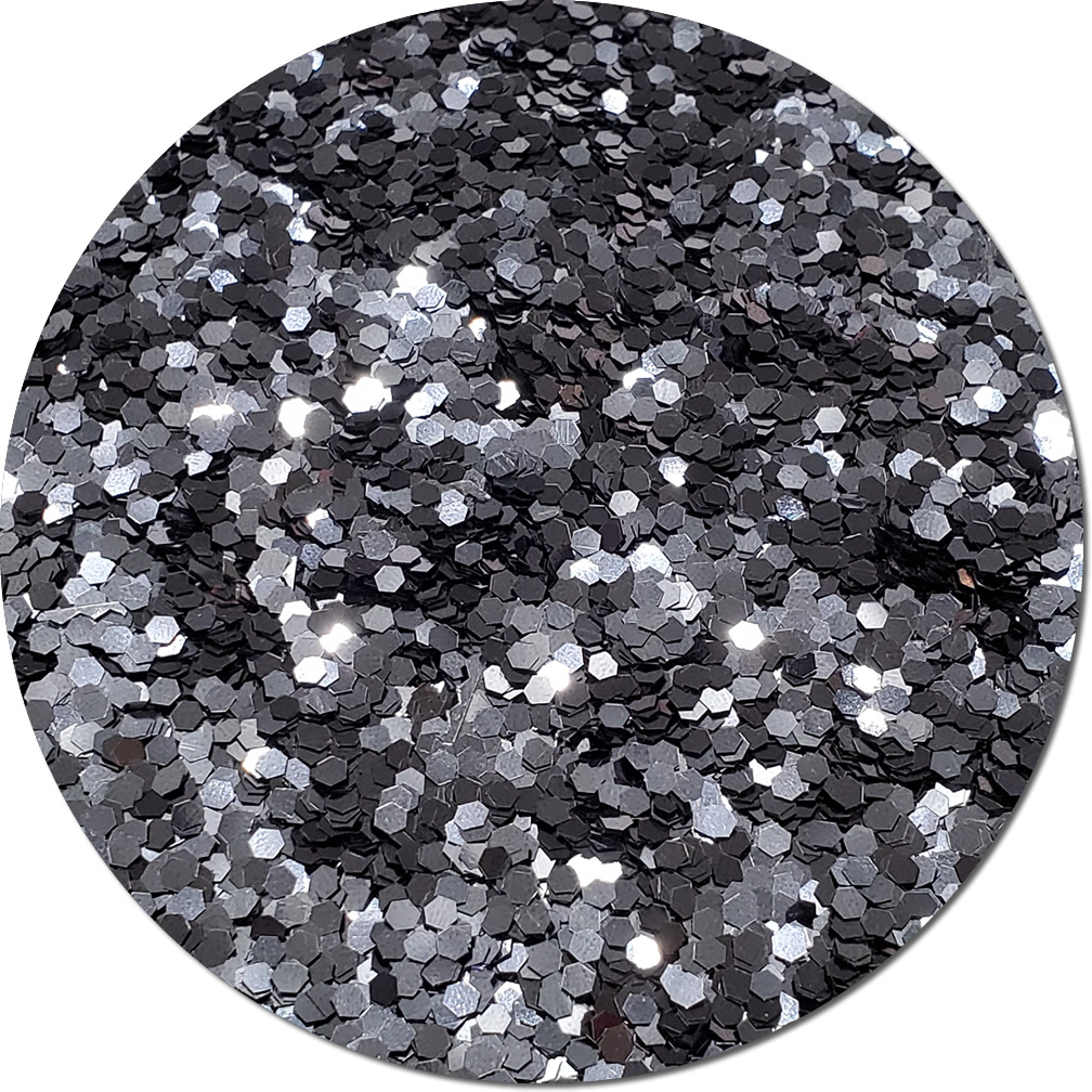 Gunmetal Gray Craft Glitter (Jumbo flake)- 3/4 oz Jar