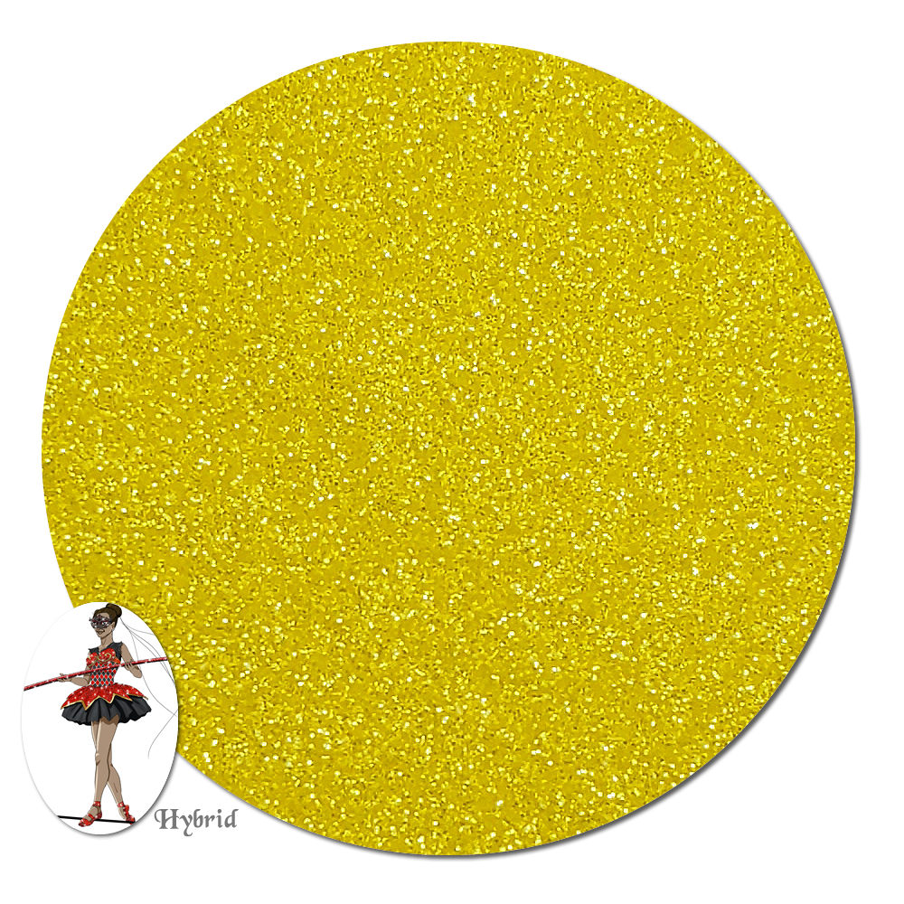 Hello Yellow Satin Hybrid Glitter (ultra fine)- 3/4 oz Jar