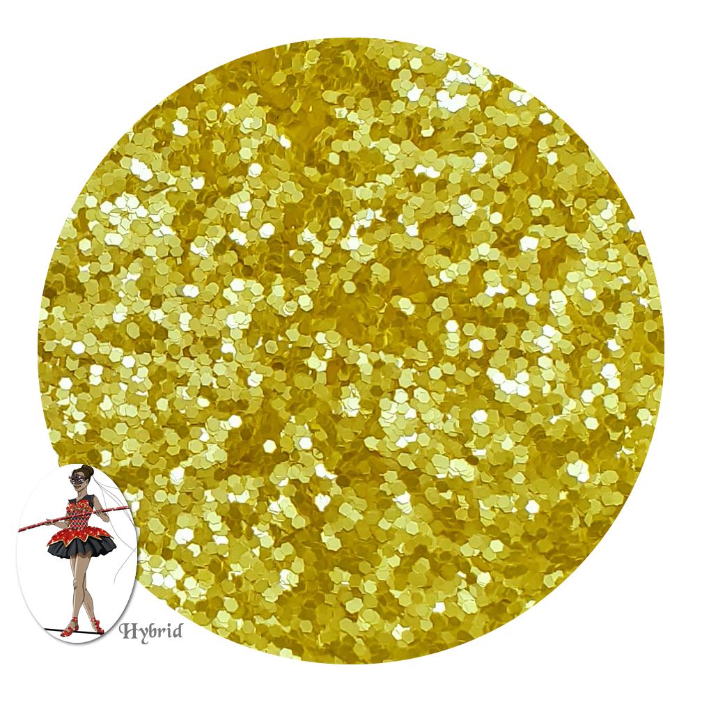 Hello Yellow Satin Hybrid Glitter (chunky)- 3/4 oz Jar