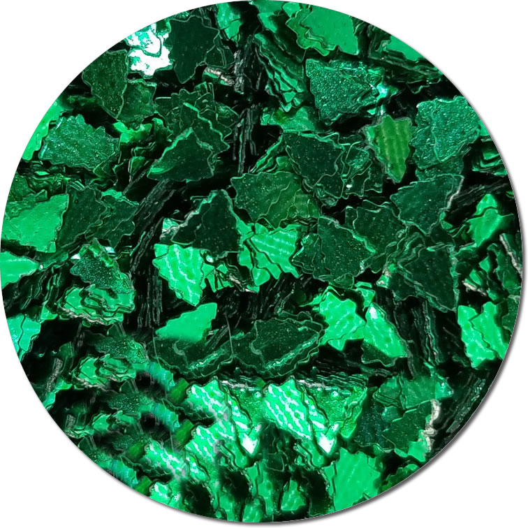 Holiday Fir :Polyester Shaped Glitter (Mini)
