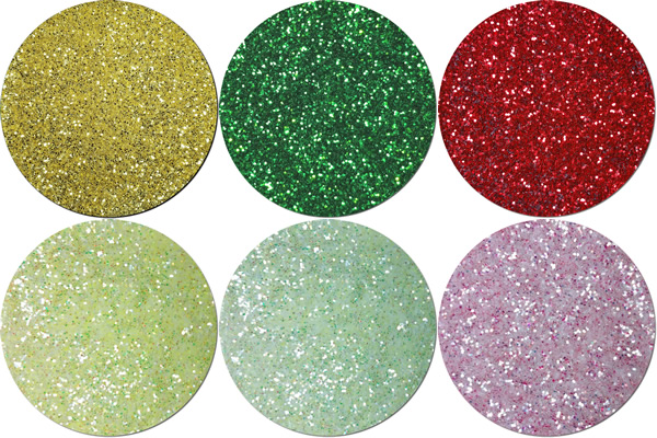 Holly Jolly Craft Glitter Assortment  (6 colors)