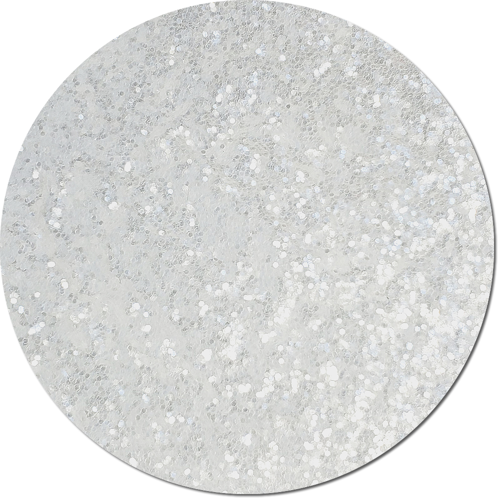Icicle Clear Craft Glitter (chunky flake)- 3/4 oz Jar
