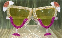 Crazy Glass Glitter Glasses